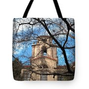 University Tower Mason Hall - Pomona College - Framed By Trees Tote Bag