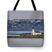Unjarga-nesseby Church In Arctic Norway Tote Bag