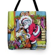 Unloading The Toys Tote Bag