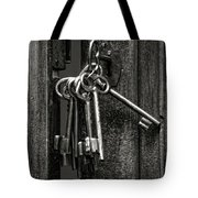 Unlocked - Keys And Opened Door Tote Bag