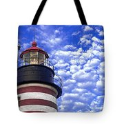 Unmistakable In Any Weather - West Quoddy Head Lighthouse Tote Bag