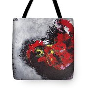 Unread Poem Black And Red Paintings Tote Bag