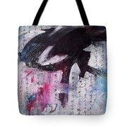 Unread Poem Black And White Paintings Tote Bag