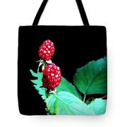 Unripe Blackberries Tote Bag