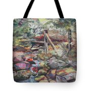 Unseated On Trout Brook Tote Bag