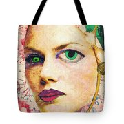 Unsettling Gaze Tote Bag by Sarah Loft