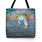 Unto The Sunset We Sail My Love Tote Bag