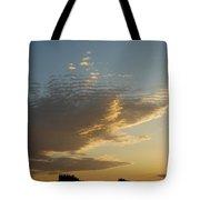 Unusual Cloud At Sunset Tote Bag