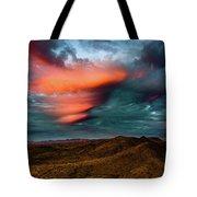 Unusual Clouds Catch Sunset Tote Bag