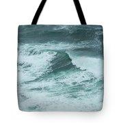 Unusual Green Wave Vertical Tote Bag