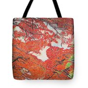 Up Close Flamboyant Tote Bag