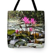 Up Close Water Lilies  Tote Bag