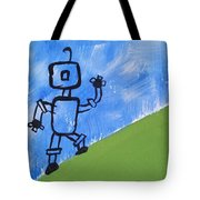 Up Hill Climb Tote Bag