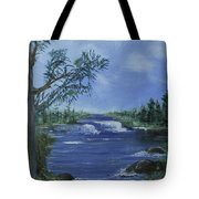 Landscape With Waterfall Tote Bag