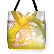 Up On The Rooftop Yellow Tote Bag