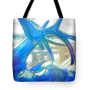 Up On The Rooftop Blue Tote Bag