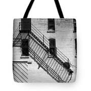 Up The Fire Escape Abstract Tote Bag