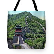 Up The Great Wall Tote Bag