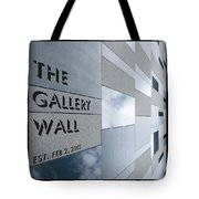 Up The Wall-the Gallery Wall Logo Tote Bag
