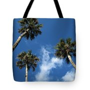 Up To The Sky Palms Tote Bag