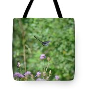 Up, Up And Away-black Swallowtail Butterfly Tote Bag