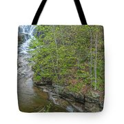 Upper And Middle Falls At Mine Kill State Park Tote Bag