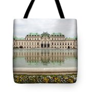 Upper Belvedere And Its Reflection  Tote Bag