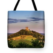 Upper Church With Two Towers In Banska Stiavnica, Slovakia Tote Bag