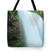 Upper Cullasaja Dry Falls In North Carolina Panorama Tote Bag by Ranjay Mitra