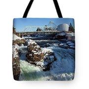 Upper Falls Winter - Spokane Tote Bag