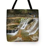 Upper Gorge Falls Of Enfield Glen In Treman State Park Tote Bag