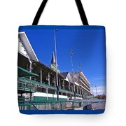 Upper Level Viewing Stands At Churchill Downs Tote Bag