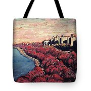 Upper Manhattan Along The Hudson River Tote Bag