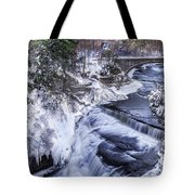 Upper Taughannock Winter Tote Bag