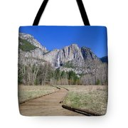 Upper Yosemite Fall And The Trail Tote Bag