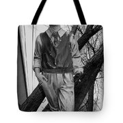 Upright In An Askew World Tote Bag