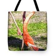Upside Down Flamingo Tote Bag
