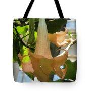 Upside Down Flower Tote Bag