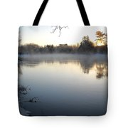 Upstream Mississippi River After Ice Out Tote Bag
