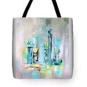 Uptown Mid-century Modern Abstract Art Tote Bag