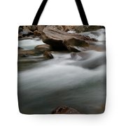 Upturned Rock In A Flowing Stream Tote Bag