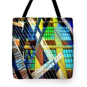 Urban Abstract 123 Tote Bag