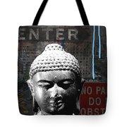Urban Buddha 4- Art By Linda Woods Tote Bag