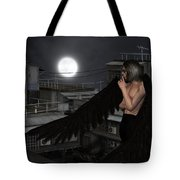 Urban Guardian Angel - Standing Tote Bag