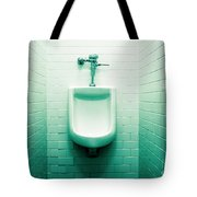 Urinal In Men's Restroom. Tote Bag by John Greim