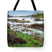 Urridafoss Waterfall And River Pjorsa In Iceland Tote Bag