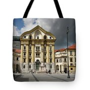 Ursuline Church Of The Holy Trinity With Marble Statues Of The H Tote Bag