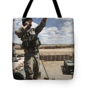 U.s. Air Force Member Calls For Air Tote Bag by Stocktrek Images