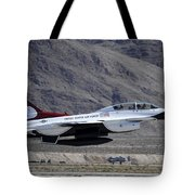 U.s. Air Force Thunderbird F-16 Tote Bag