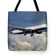 Us Airways A330-200 N280ay Tote Bag